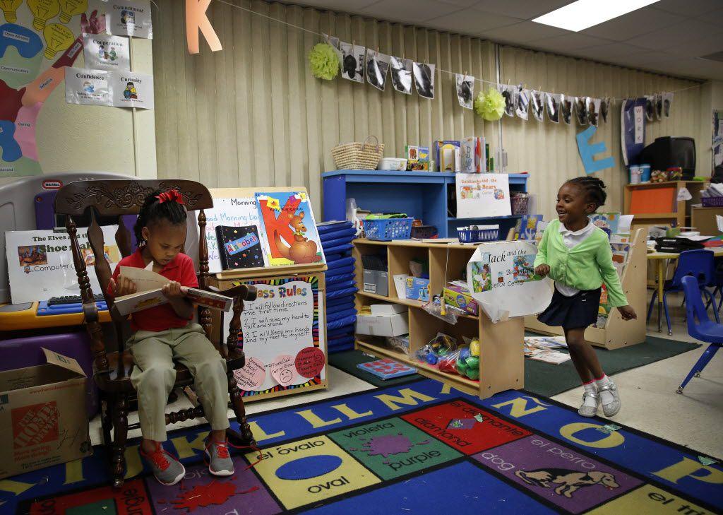 Head Start and preschool program students at  Pleasant Run Elementary in Lancaster.