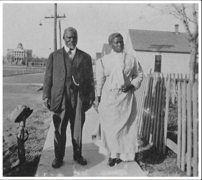 The Skinner family. Residents of Quakertown in Denton were prosperous and solidly middle class. They owned their own homes.