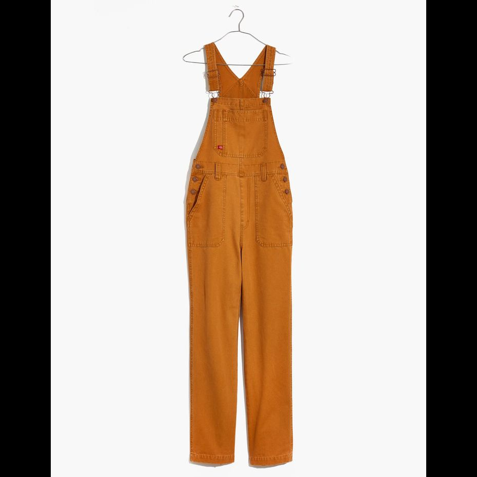 Madewell'overalls designed by Fort Worth-based workwear apparel brand Dickies.