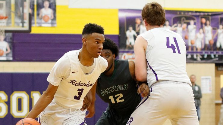 Richardson's Rylan Griffen (3) ranks sixth in the Dallas area in scoring, averaging 21.7 points per game, and he's also among the leaders in 3-point shooting.