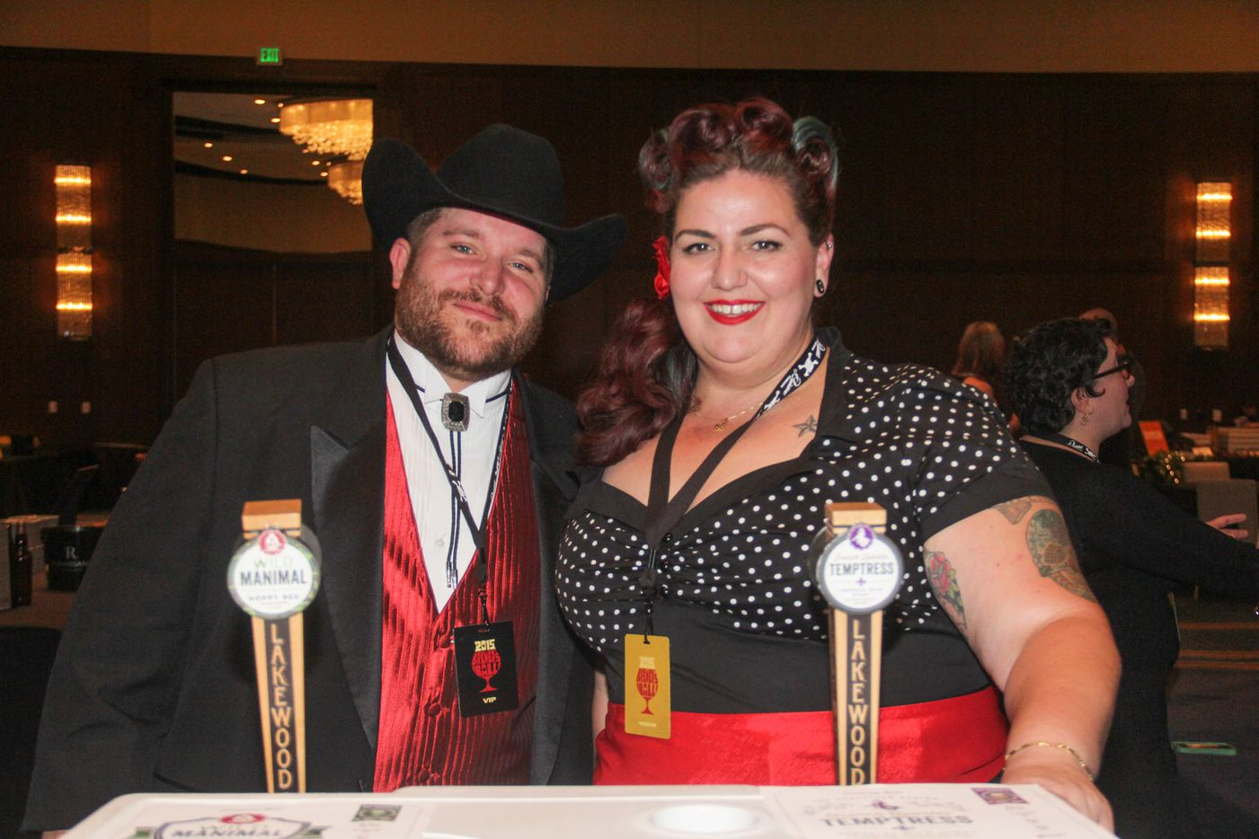 NTX Beer Week held its Second Annual Brewers Ball at the Renaissance Dallas Hotel on November 13, 2015. Jeremiah Wallis and Gretta Leverett.