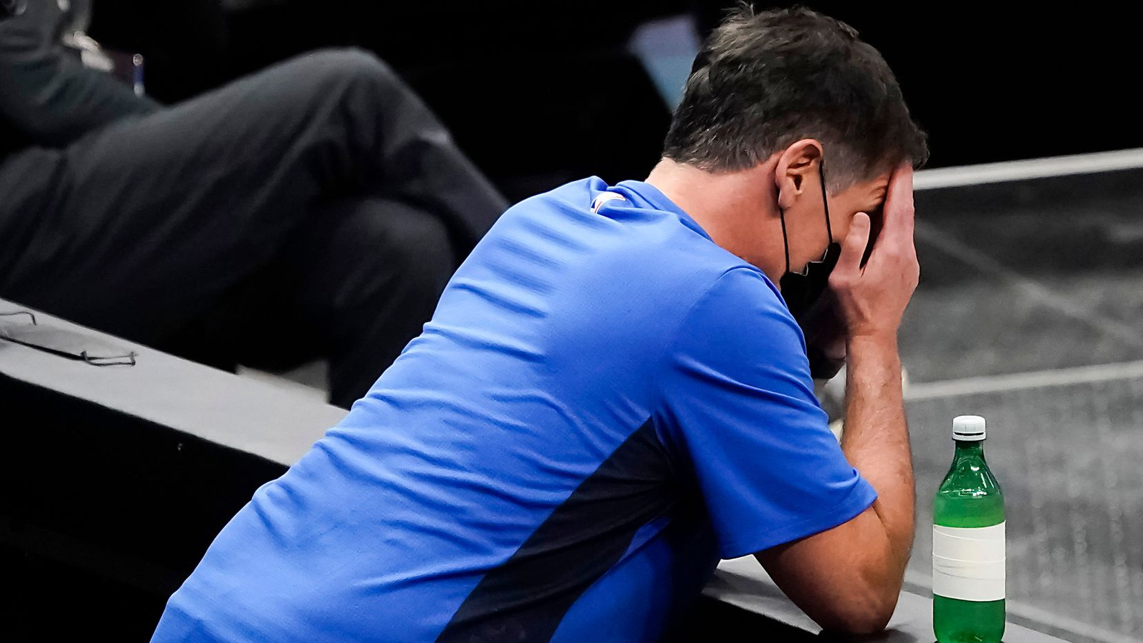 Dallas Mavericks owner Mark Cuban reacts to a call during the second half of an NBA basketball against the Sacramento Kings game at American Airlines Center on Sunday, May 2, 2021, in Dallas.