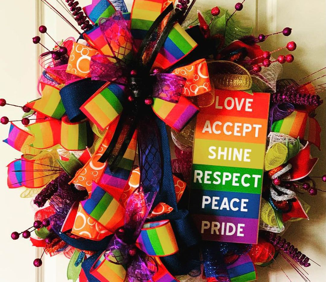 Tamara Warren's Pride Month wreath has sparked anti-LGBTQ outcry on the Grapevine-Southlake-Colleyille-Coppell Facebook buy-sell-trade page.
