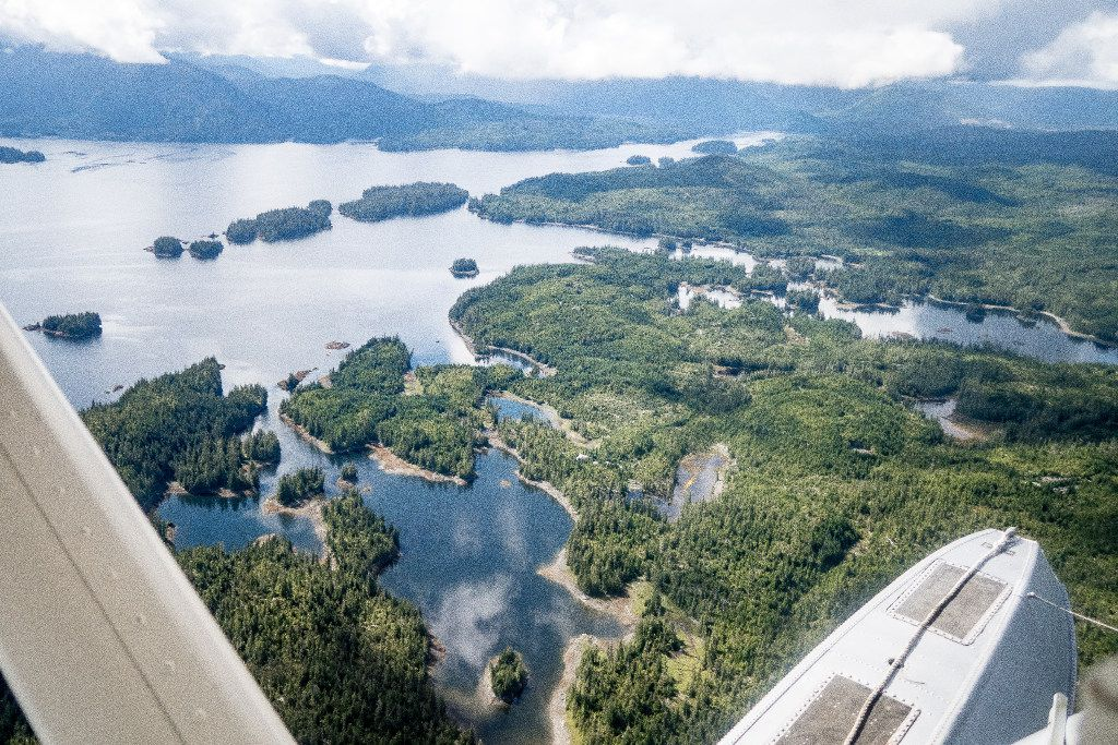 There's only one way to reach Waterfall Resort - by sea plane