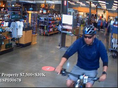 On Saturday afternoon, a man allegedly stole an expensive Cannondale bike from REI in Southlake.