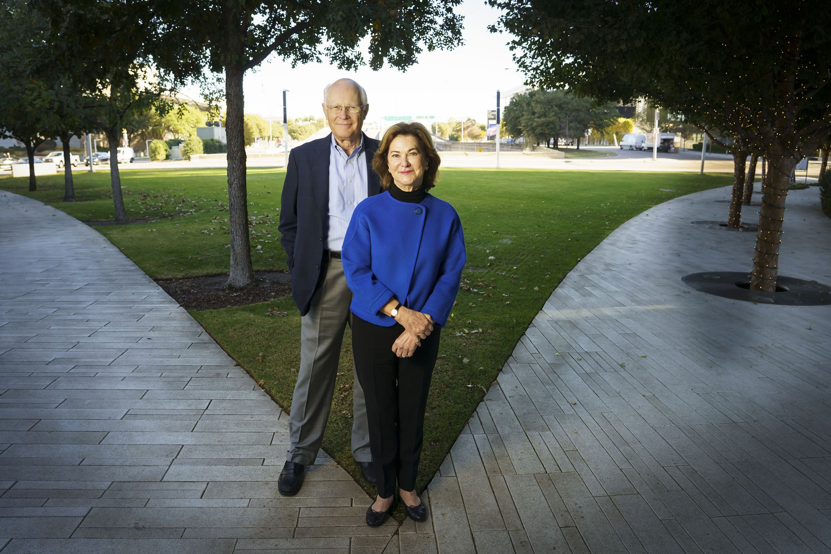 "Klyde Warren Park board member Nancy Best and her husband, Randy Best, are giving the park and the city a $10 million Christmas gift that is paying for a next-generation, interactive, ""super fountain."""