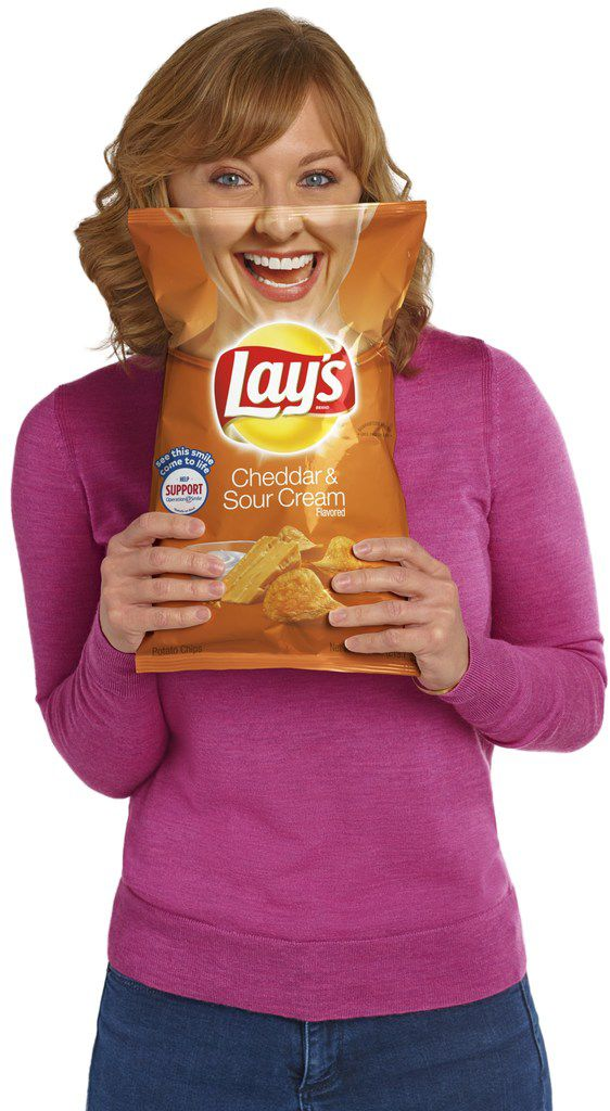 Paige Chenault of the Birthday Party Project is featured on Lay's potato chip bags.