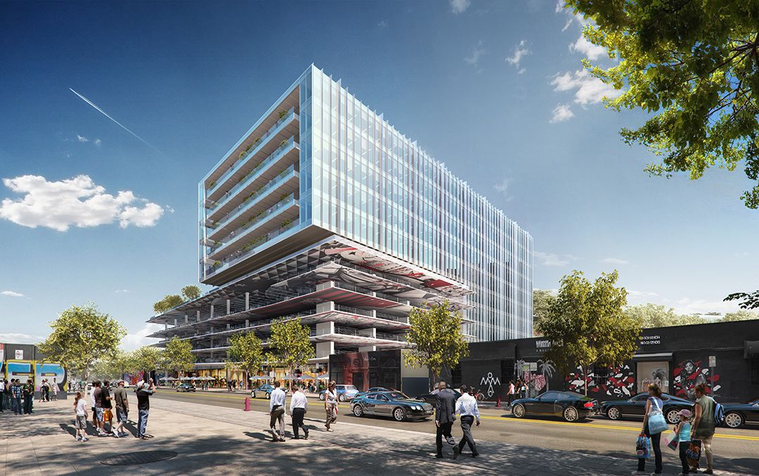 Sterling Bay is building an office and retail building in Miami's Wynwood district.