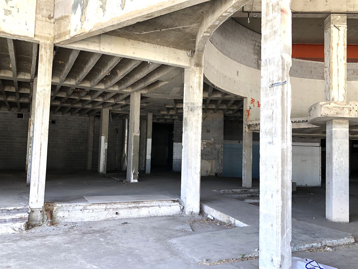 The lobby of the Cabana Hotel has been gutted for renovation.