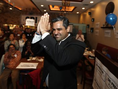 Sri Preston Kulkarni, the Democratic nominee is a Houston-area Congressional district, is among the South Asian Americans in Texas on the ballot this year. He's facing Republican Troy Nehls, the Fort Bend County sheriff. ORG XMIT: MERd8b340f054dc289d8024effae193e