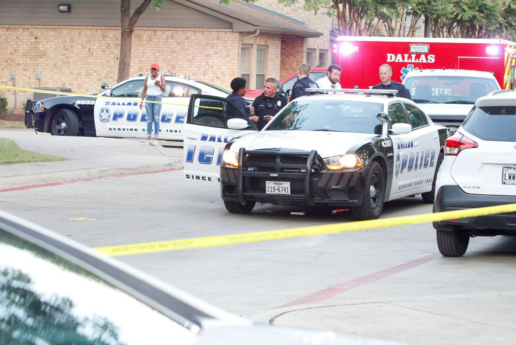 Scene of a shooting at the Roseland Town Homes that killed a 9-year-old girl in Dallas, Wednesday, August 14, 2019. 9-year-old Brandoniya Bennett was killed when someone fired into an apartment Wednesday, Aug. 14, 2019 in Old East Dallas, police say.