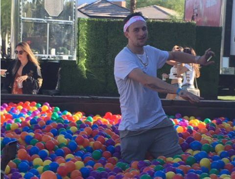 Johnny Manziel was spotted in a ball pit at Coachella. Because Coachella.