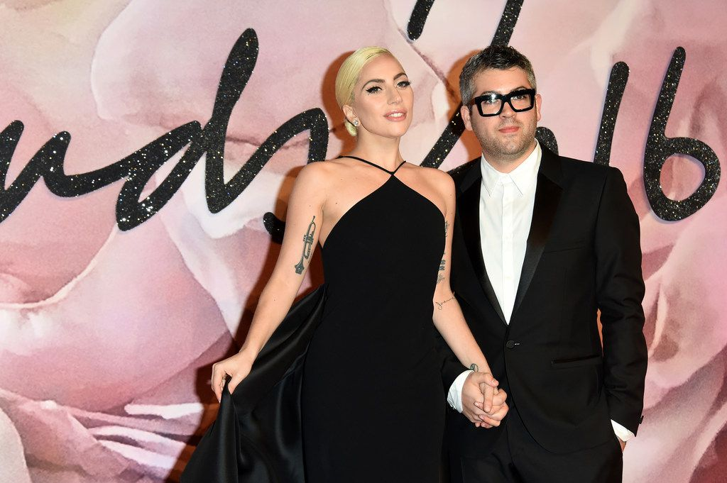 LONDON, ENGLAND - DECEMBER 05:  Singer Lady Gaga and desginer Brandon Maxwell attend The Fashion Awards 2016 on December 5, 2016 in London, United Kingdom.  (Photo by Stuart C. Wilson/Getty Images) ORG XMIT: 685738457