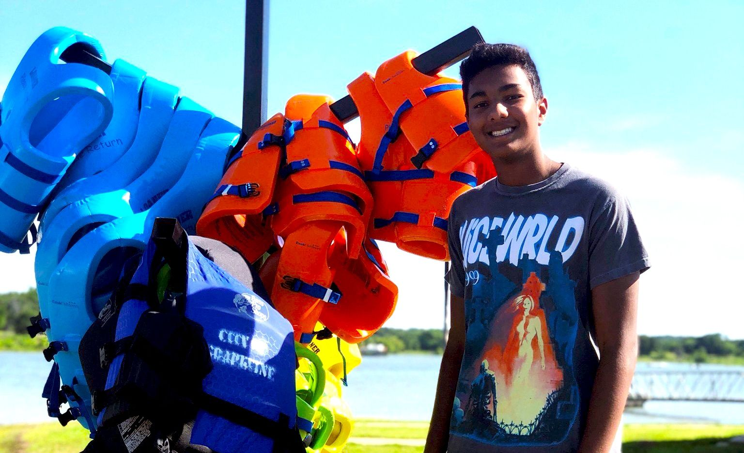 Rohan Rumalla raised more than $6,000 for the Grapevine Fire Department's Loan-a-Life Jacket program.