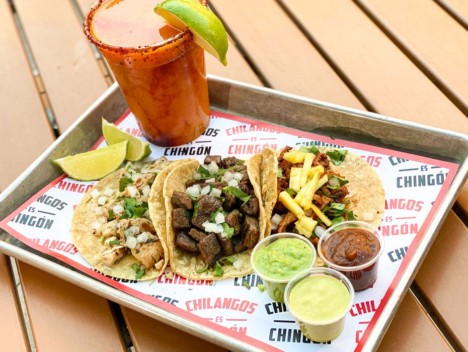 Chilangos Tacos opened Nov. 24 in Plano. Its Mexico City tacos come topped with onions, cilantro and choice of salsa.