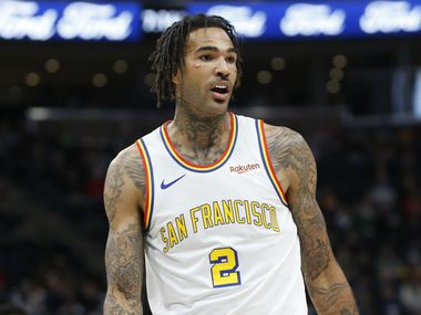 Golden State Warriors center Willie Cauley-Stein (2) walls up court in the first half during an NBA basketball game against the Utah Jazz Friday, Dec. 13, 2019, in Salt Lake City.