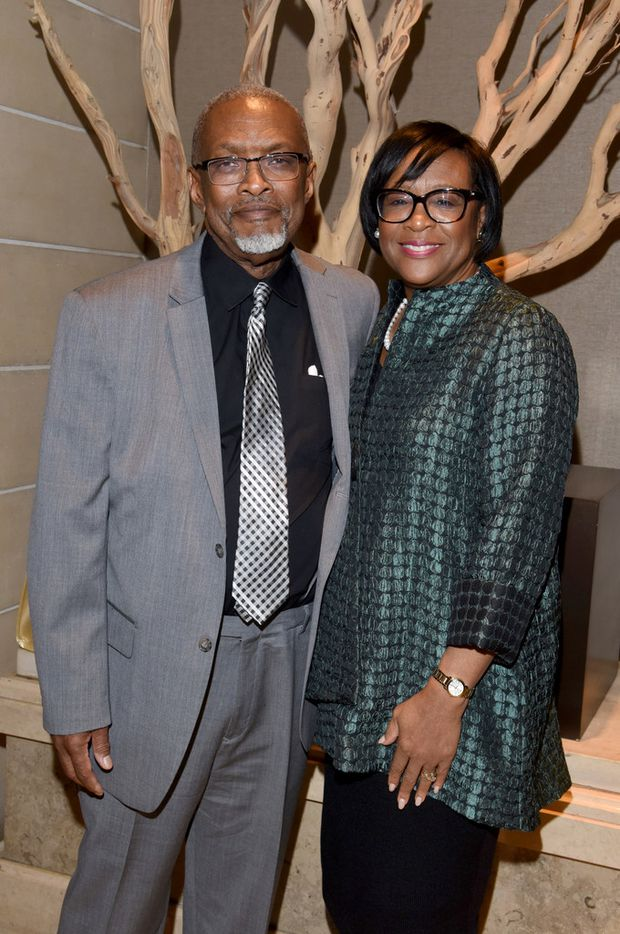 Kenneth and Cynt Marshall at Dallas CASA's Judge Barefoot Sanders Champion of Children Award dinner on Nov. 15. Cynt Marshall, who is a Dallas CASA board member, emceed the event.