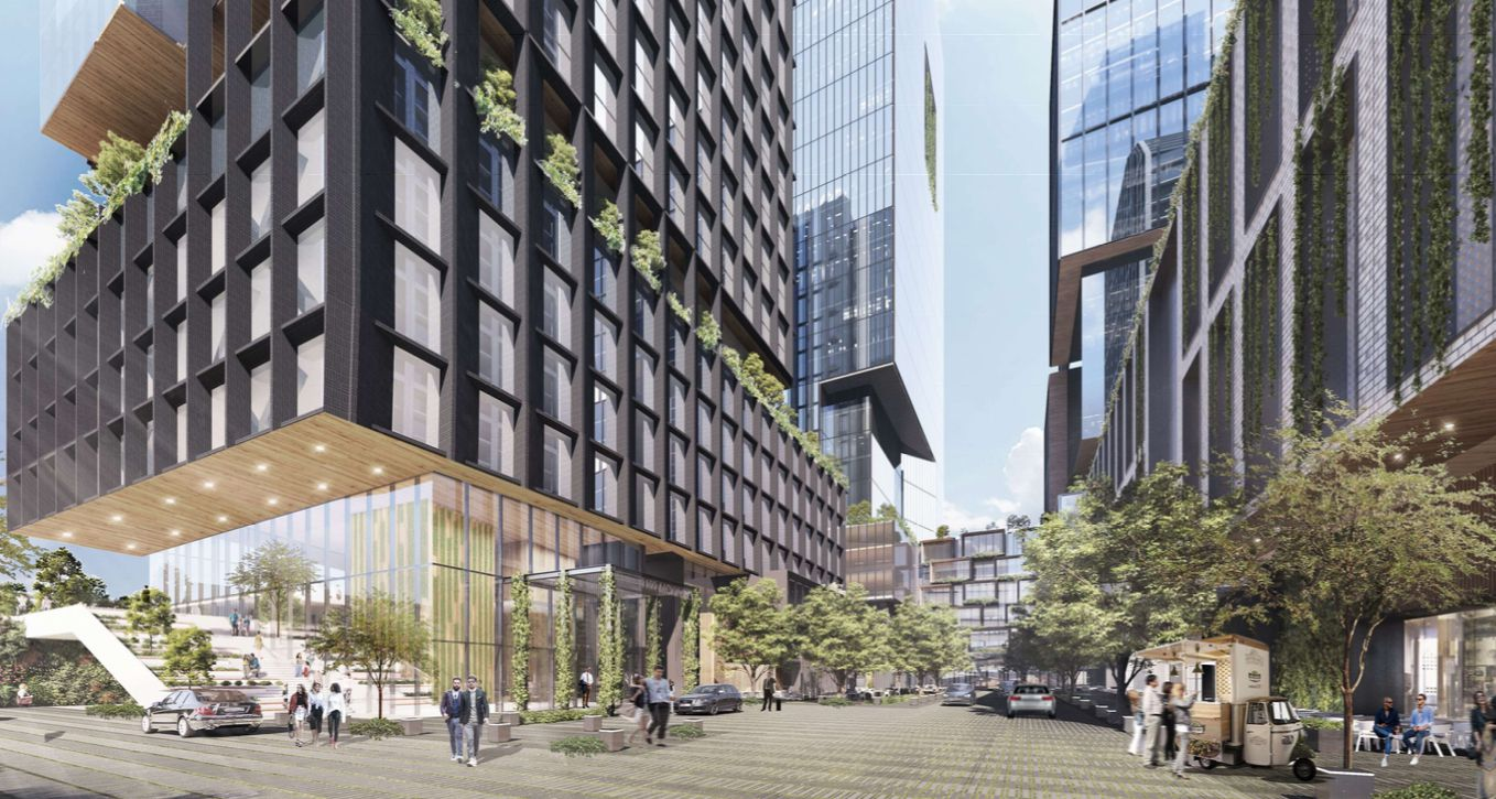 The project would include offices, retail and residential.