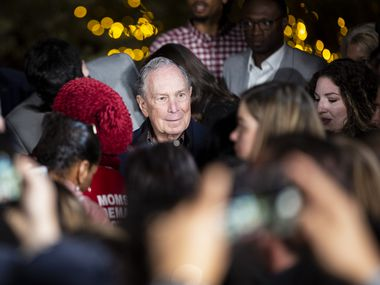 Presidential candidate and former New York Mayor Mike Bloomberg before speaking during his campaign stop at the Happiest Hour on Jan. 11, 2020 in Dallas. (Juan Figueroa/ The Dallas Morning News)