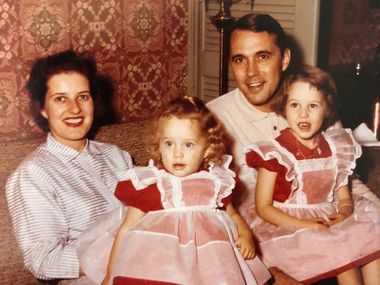 Peggy Wehmeyer's father was an anti-Semite who married a Jew. Anita and Karl Wehmeyer hold Peggy, left, and her older sister Nancy.