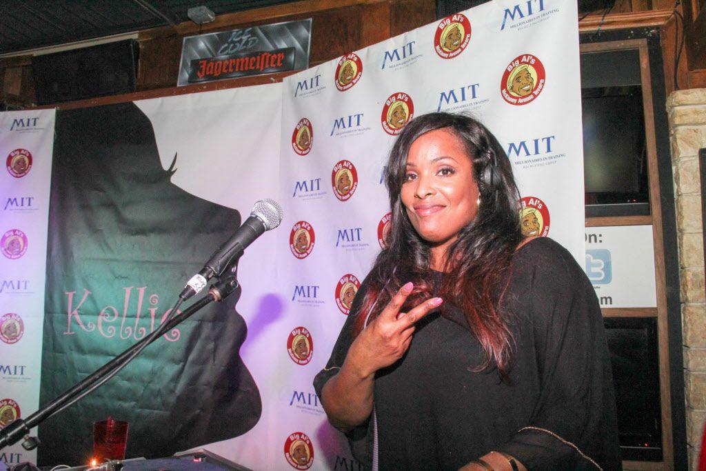 DJ Spinderella provided entertainment at Kellie Rasberry's birthday bash at Big Al's McKinney Ave Tavern on April 16, 2015