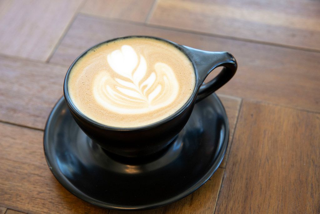 The cardamom latte at Pax & Beneficia is one of its specialties.