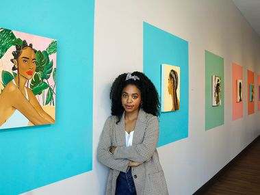 "Artist Ari Brielle, whose ""Safe Place"" was displayed at the Oak Cliff Cultural Center in Dallas last summer, will be featured in ""Vivrant Thang."" Her work explores the challenges of Black women in today's society."
