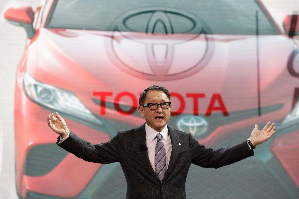 Toyota President Akio Toyoda introduced the 2018 Toyota Camry last month at the North American International Auto show in Detroit. (AP Photo/Carlos Osorio, File)