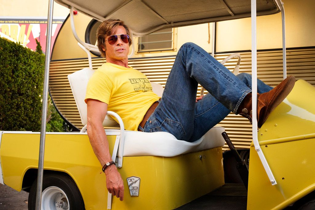 """This image released by Sony Pictures shows Brad Pitt in Quentin Tarantino's """"Once Upon a Time in Hollywood."""""""