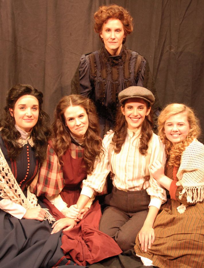 Angela Davis (from left) Elizabeth McWhorter, Katie Moyes Williams, Monique Abry and Grace Loncar star in Little Women Oct. 10-Nov. 2, at Contemporary Theatre of Dallas.