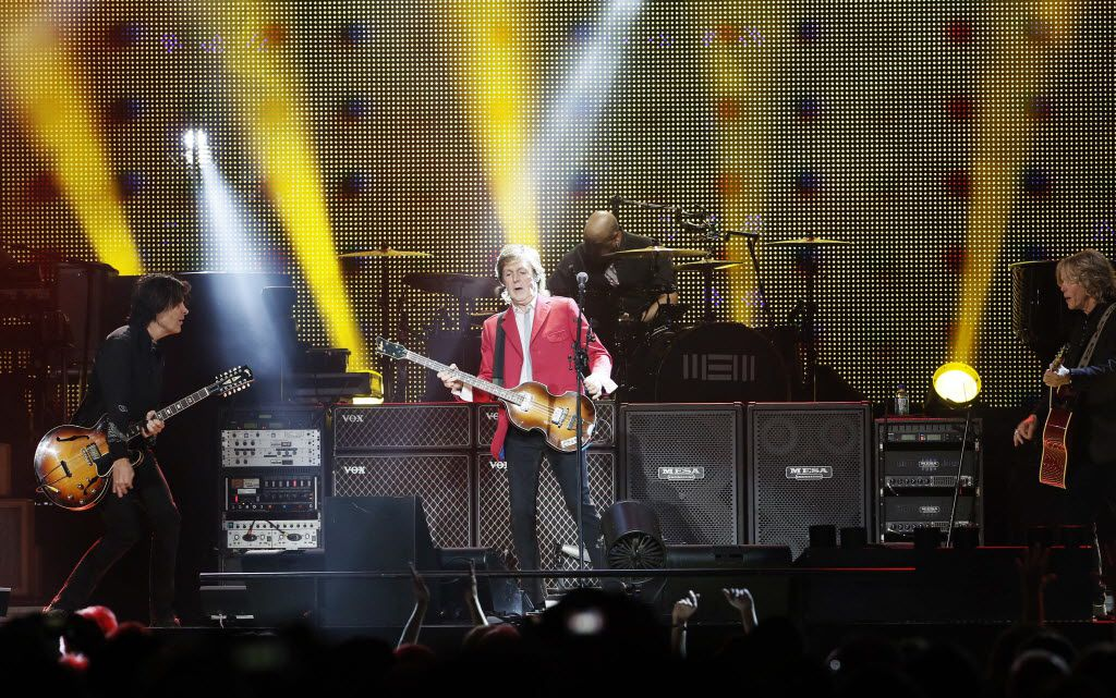 Paul McCartney performs at the American Airlines Center, Monday, October 13, 2014.