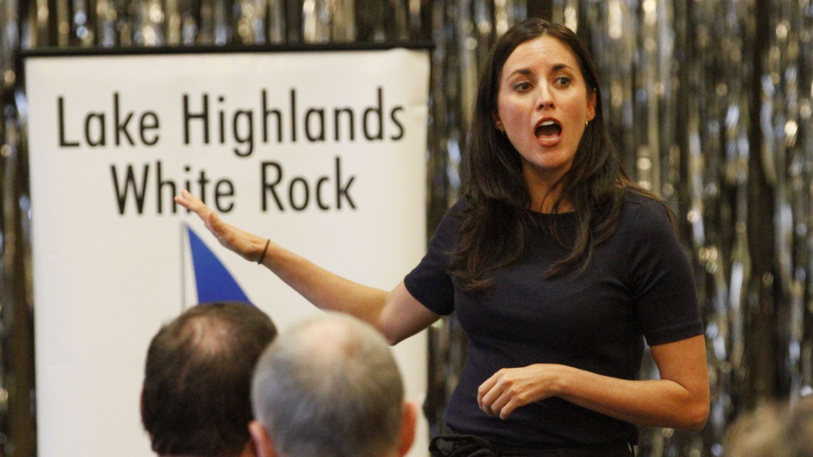 Democratic Senate candidate Cristina Tzintzún Ramirez speaks at a meeting of the Lake Highlands Democratic Party Club in Dallas Saturday, December 21, 2019. (Brian Elledge/The Dallas Morning News)