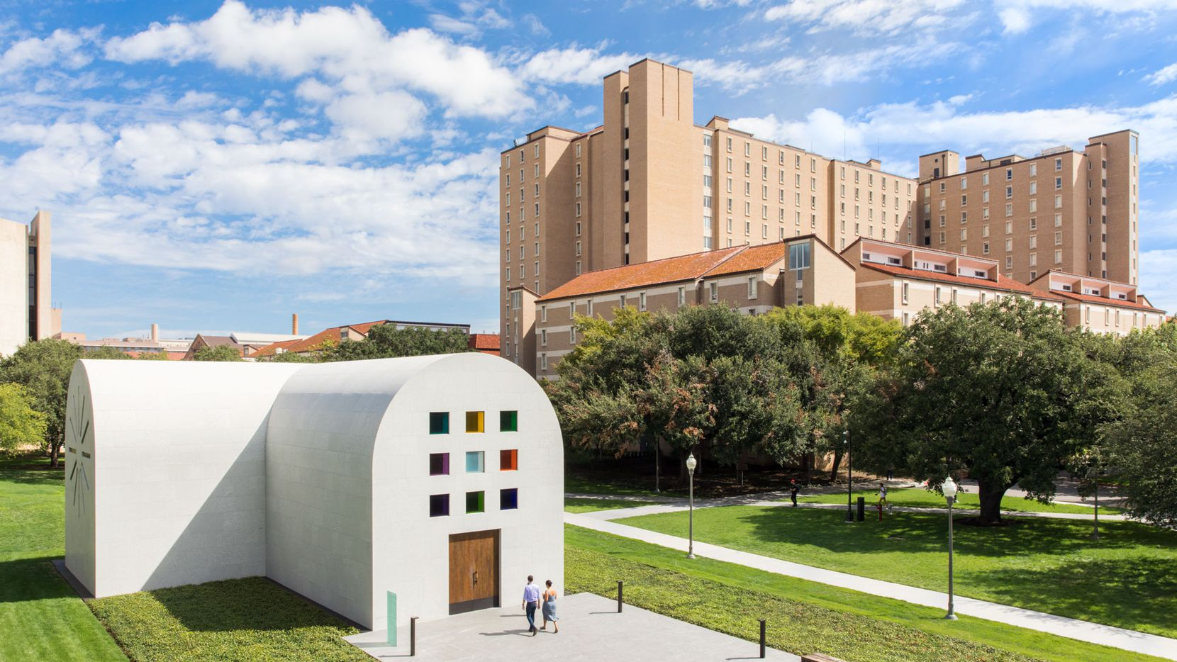 """Artist Ellsworth Kelly's """"Austin"""" is a striking addition to the University of Texas campus."""