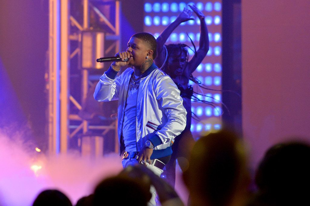 Yella Beezy performs onstage during the BET Hip Hop Awards on Oct. 6, 2018, in Miami Beach, Fla.
