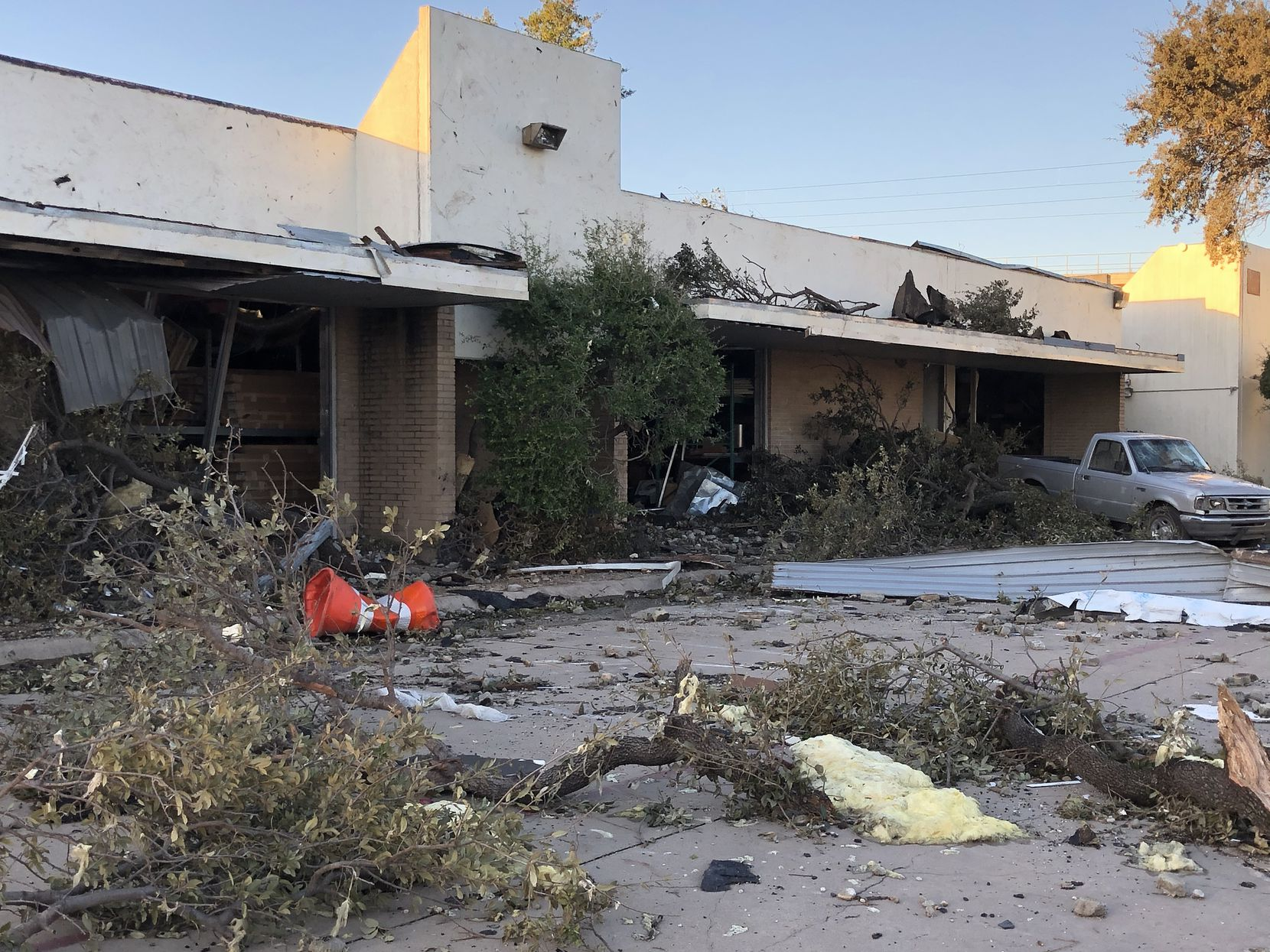 October's storm severely damaged the Walnut Plaza West center at the southeast corner of Walnut Hill Lane and Denton Drive.
