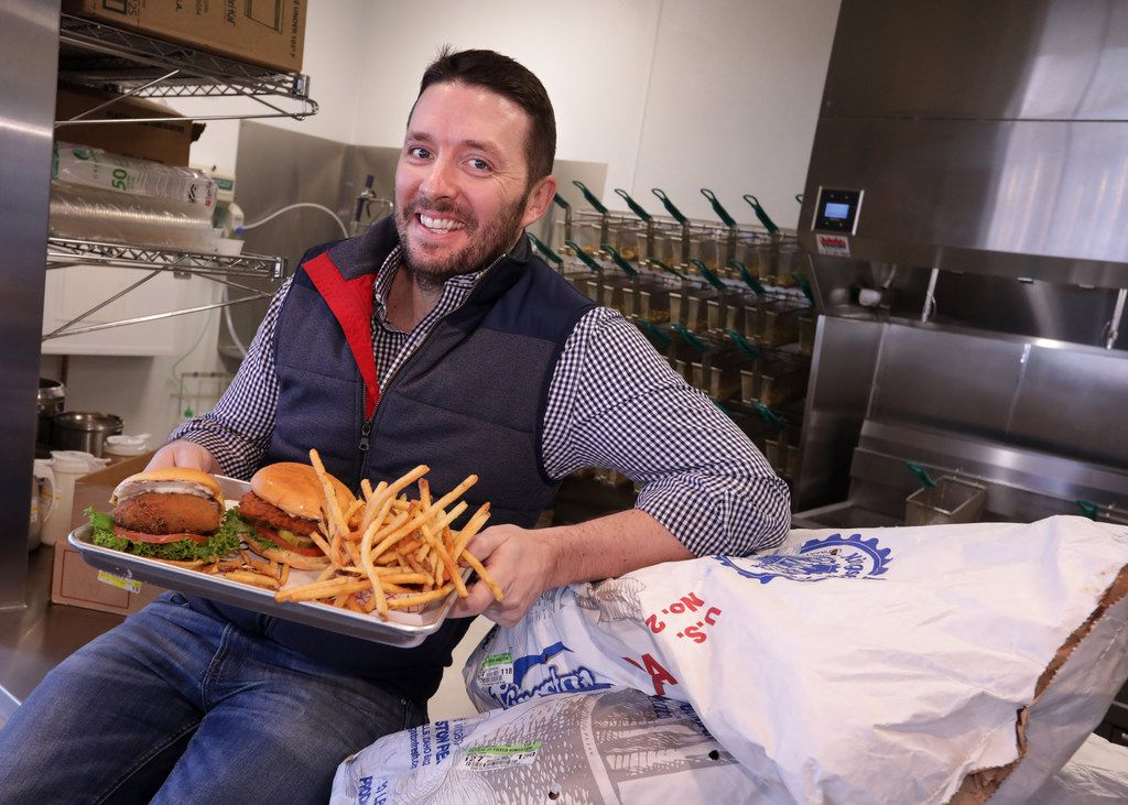 Franchise owner Nick Ouimet poses for a photograph at Super Chix in Frisco, TX, on Jan. 11, 2018. (Jason Janik/Special Contributor)