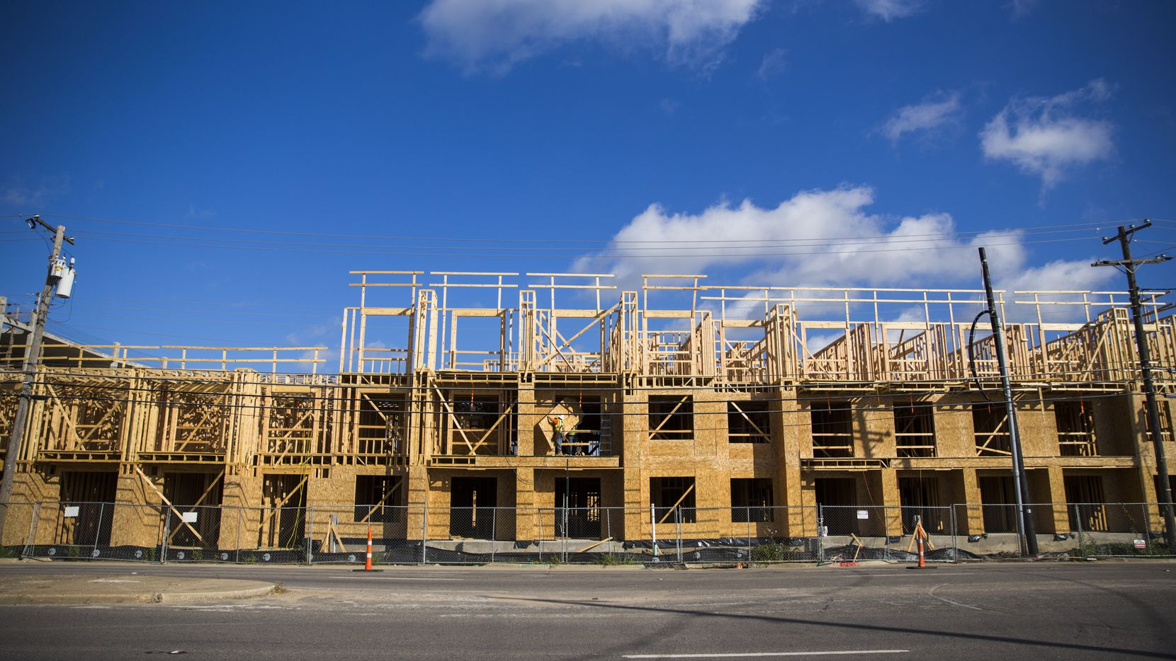 Dallas-Fort Worth apartment building permits were up more than 14 percent in the 12 months ending October.