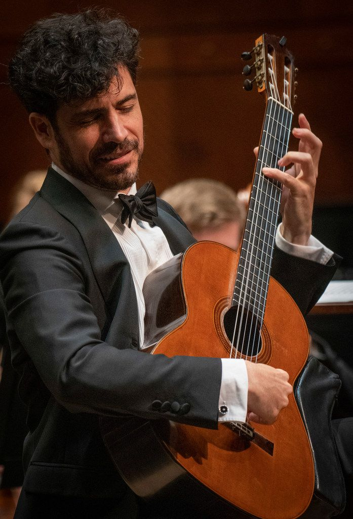 Guitarist Pablo Sáinz Villegas performs with the Fort Worth Symphony Orchestra at Bass Performance Hall in Fort Worth, Texas on May 17, 2019.