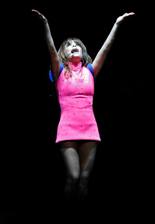 Paula Abdul performs on stage during the Total Package Tour at American Airlines Center in Dallas, Tuesday, May 23, 2017. (Jae S. Lee/The Dallas Morning News)