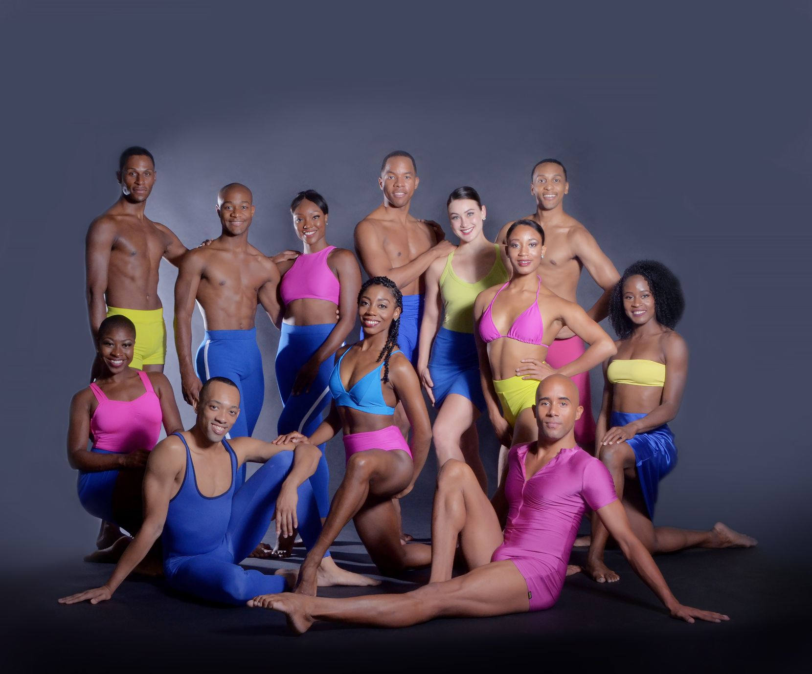 """Company members of Dallas Black Dance Theatre, which will participate in """"Together We Dance,"""" an outdoor show organized by Avant Chamber Ballet."""