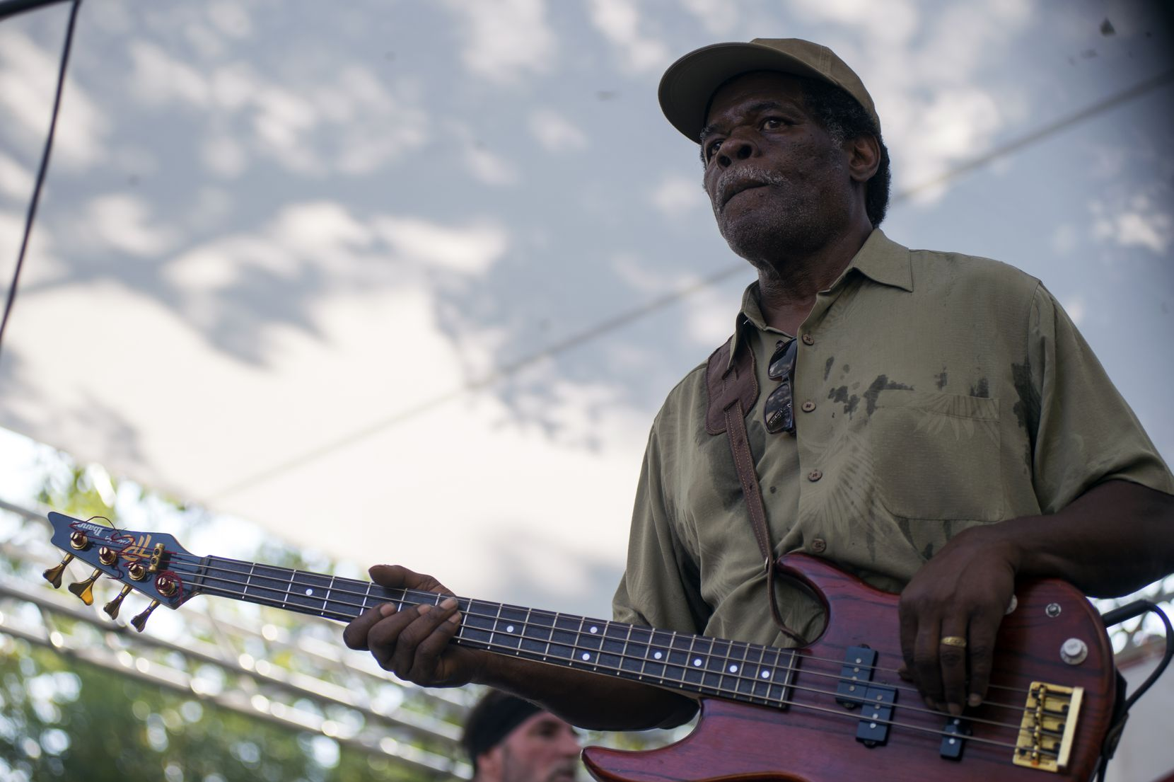 """The Funkmonsters, """"Pops"""" Carter's former band, plays at the 2017 Denton Blues Festival. The 2021 event will be held Sept. 18-19."""
