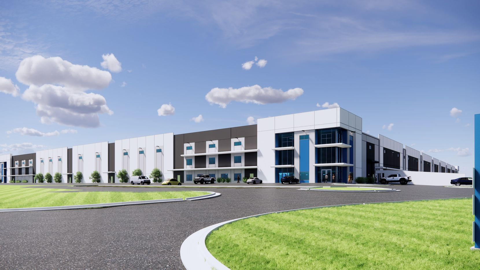 The Dallas Midpoint Crossing industrial building is more than a half million square feet.