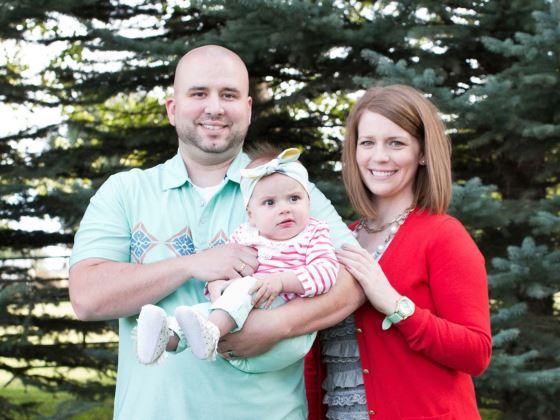 Chris and Hailey Murray are shown with their daughter in this undated photo on their YouCaring website.