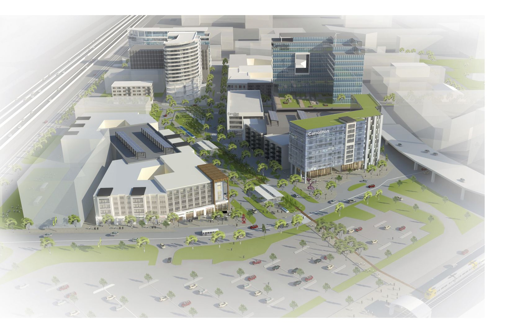 The planned Trinity Mills Urban Village will occupy about 26 acres.