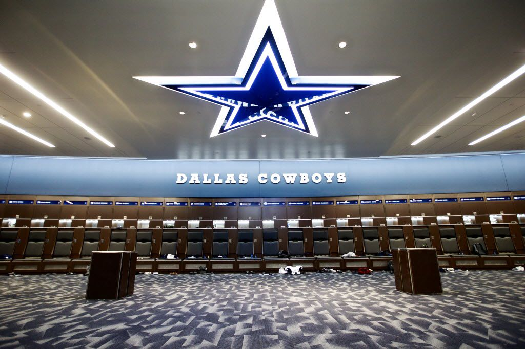 IMAGE DISTRIBUTED FOR DALLAS COWBOYS - The Dallas Cowboys World Headquarters and training facility locker room, Sunday, Aug. 21, 2016 at the Ford Center at The Star in Frisco, Texas. (Brandon Wade/AP Images for Dallas Cowboys)