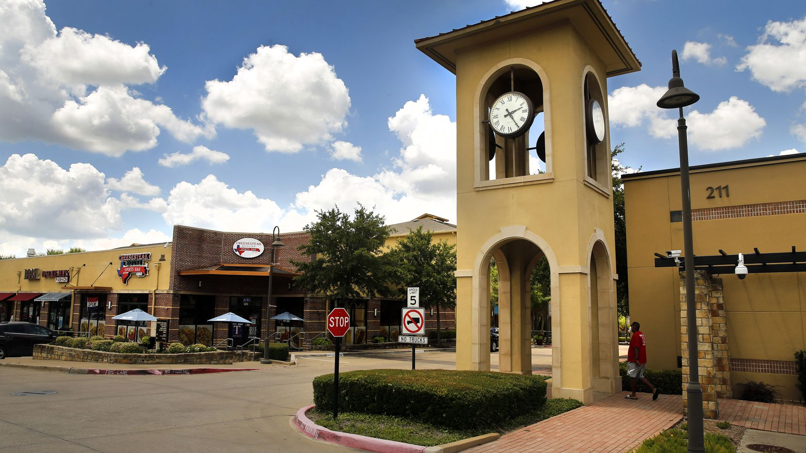 The City of DeSoto's Jim Baugh Government Center (right) is pictured in DeSoto Town Center in DeSoto, Texas, Wednesday, June 24, 2020.