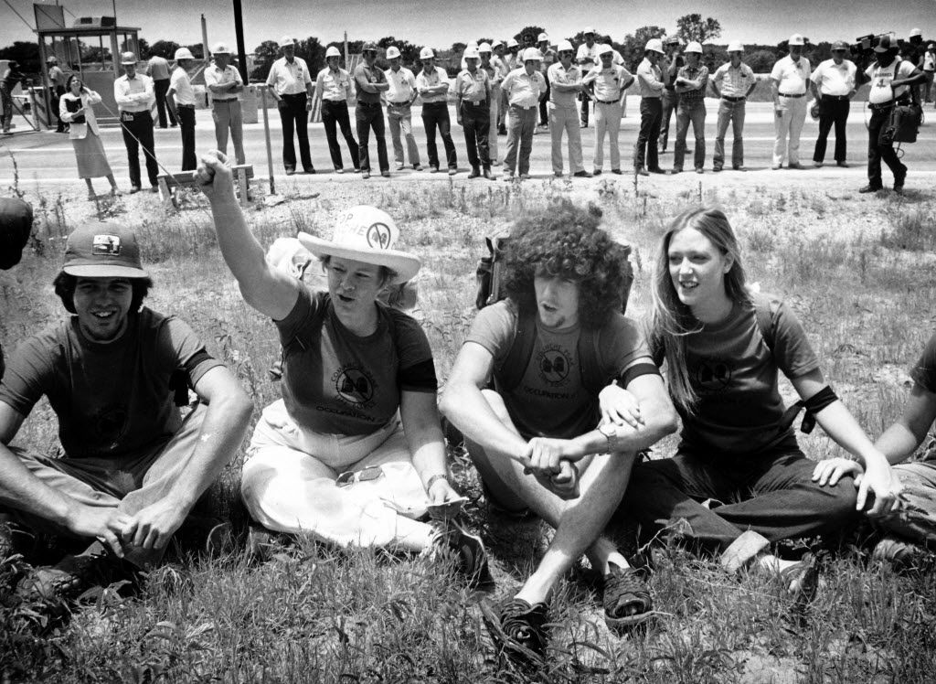 About 50 anti-nuclear demonstrators were arrested and given misdemeanor citations for trespassing on the Comanche Peak nuclear power plant site in Glen Rose in a subdued event carefully orchestrated for media attention.
