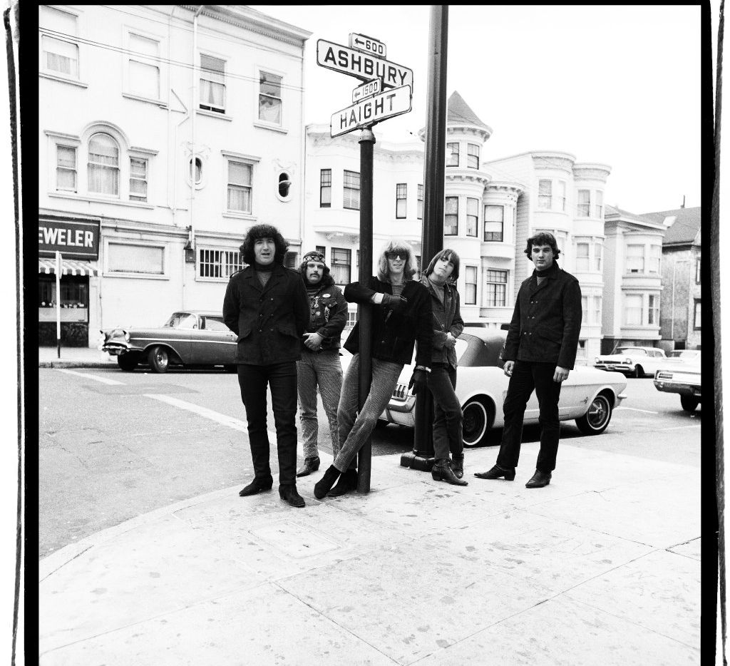 Dead Haight Street: The then not-so-famous members of The Grateful Dead pose at the corner of Haight and Ashbury in San Francisco around 1967.
