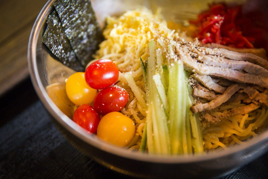 """Hiyashi chuka, or cold ramen, is the """"summer dish"""" special through June 28. The garnishes will change very slightly."""