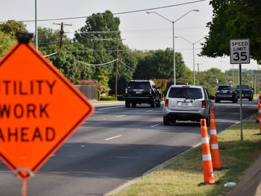 A utility work sign posted near Midway and Northaven roads alerts residents to gas line repair work being done in the neighborhood. Atmos notified state regulators that it will replace gas lines in a large section of northwest Dallas .